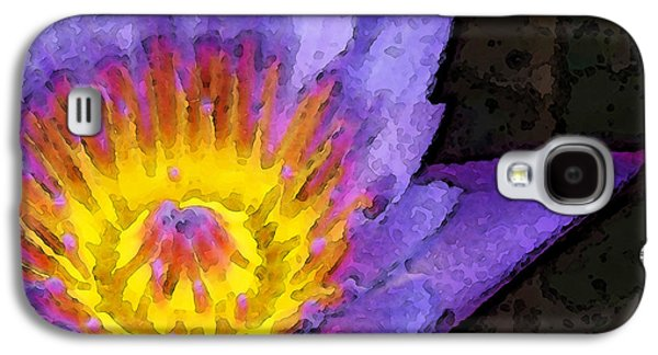 Affirmation Galaxy S4 Cases - Purple Lotus Flower - Zen Art Painting Galaxy S4 Case by Sharon Cummings