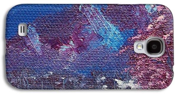 Bob Ross Galaxy S4 Cases - Purple Mountain Landscape Galaxy S4 Case by Jera Sky