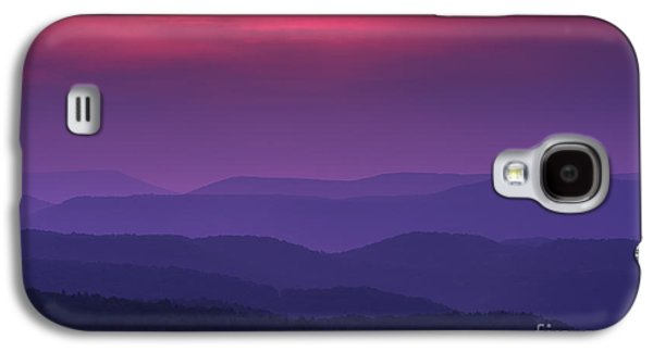 Colorful Cloud Formations Galaxy S4 Cases - Purple Mountain Majesties Galaxy S4 Case by Thomas R Fletcher