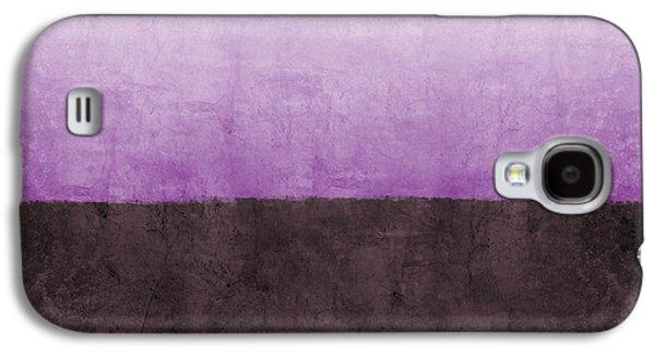 Purple On The Horizon- Art By Linda Woods Galaxy S4 Case by Linda Woods