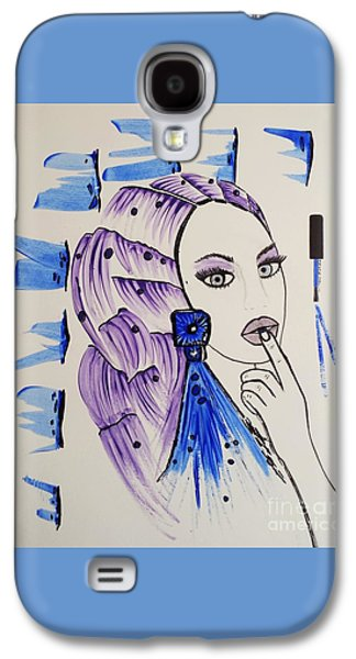 Girl Galaxy S4 Cases - Purple or Blue Galaxy S4 Case by Jasna Gopic
