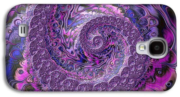 Abstracted Galaxy S4 Cases - Purple Passion Galaxy S4 Case by Amanda Moore