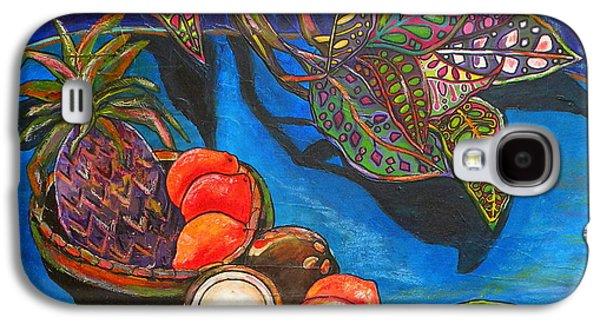 Purple Pineapple Galaxy S4 Case by Patti Schermerhorn