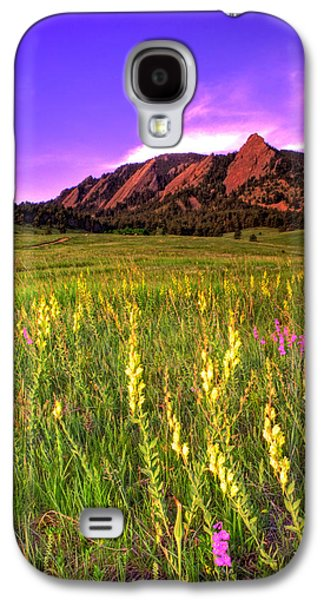 Purple Skies And Wildflowers Galaxy S4 Case by Scott Mahon