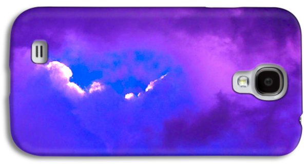 Colorful Cloud Formations Galaxy S4 Cases - Purple Storm Galaxy S4 Case by Gwyn Newcombe