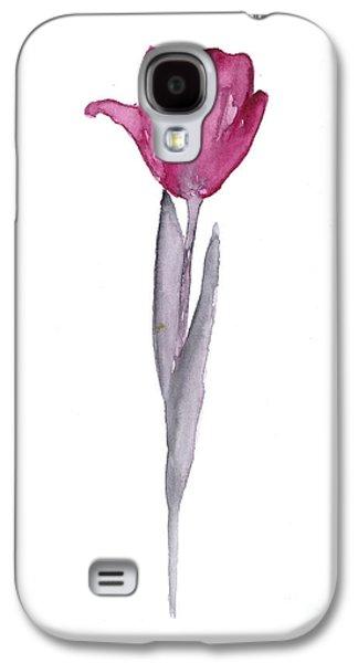 Purple Tulip Botanical Artwork Poster Galaxy S4 Case by Joanna Szmerdt