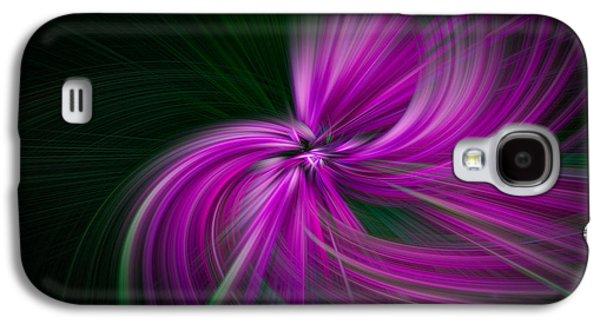 Walden Pond Galaxy S4 Cases - Purple Twirls Galaxy S4 Case by Noah Katz