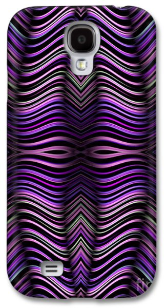 Abstracts Galaxy S4 Cases - Purple Zebra Galaxy S4 Case by John Edwards