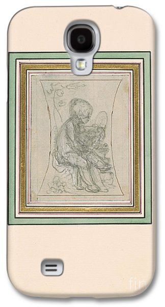Putto With Mirror And Book Galaxy S4 Case by MotionAge Designs