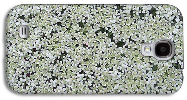 Anna Villarreal Garbis Galaxy S4 Cases - Queen Annes lace II Galaxy S4 Case by Anna Villarreal Garbis