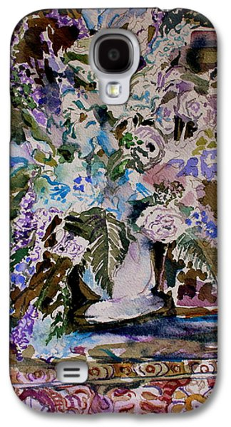 Interior Still Life Drawings Galaxy S4 Cases - Queen for a Day Galaxy S4 Case by Mindy Newman