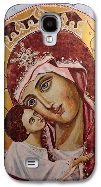 Greek Icon Paintings Galaxy S4 Cases - Queen of Heaven Galaxy S4 Case by Olga Dytyniak