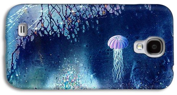Angel Mermaids Ocean Galaxy S4 Cases - Queen of the Starry Reef Galaxy S4 Case by Lee Pantas