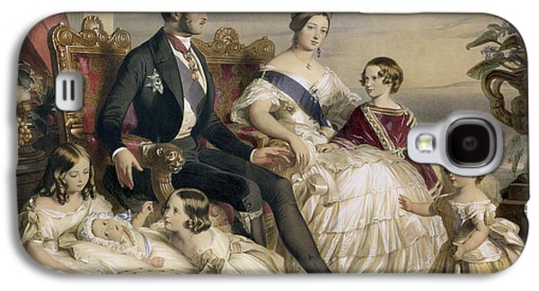 Queen Victoria And Prince Albert With Five Of The Their Children Galaxy S4 Case by Franz Xavier