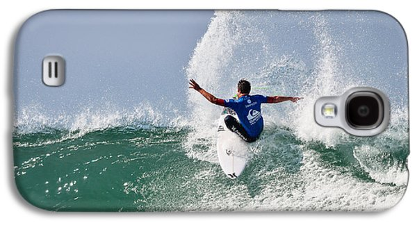 Surfer Magazine Galaxy S4 Cases - Quiksilver Pro France III Galaxy S4 Case by Thierry Bouriat