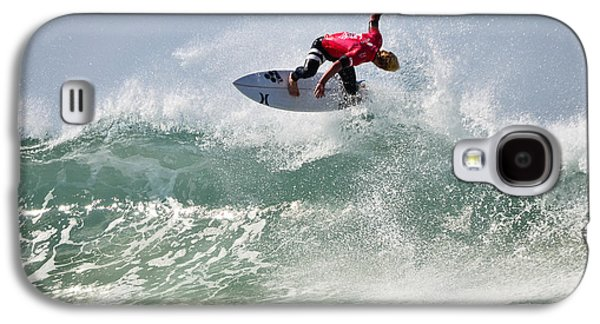 Surfer Magazine Galaxy S4 Cases - Quiksilver Pro France IV Galaxy S4 Case by Thierry Bouriat