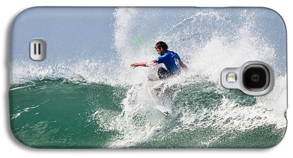 Surfer Magazine Galaxy S4 Cases - Quiksilver Pro France V Galaxy S4 Case by Thierry Bouriat