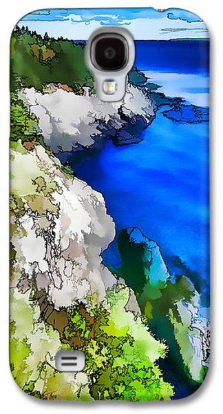 Coastal Maine Galaxy S4 Cases - Quoddy Coast - Abstract Painterly Galaxy S4 Case by Bill Caldwell -        ABeautifulSky Photography