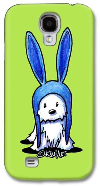 Coton Tulear Galaxy S4 Cases - Rabbit Ears Westie Galaxy S4 Case by Kim Niles