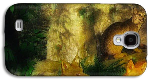 Bobcats Digital Galaxy S4 Cases - Rabbit Season Galaxy S4 Case by Bill Cannon