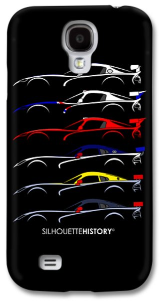 Racing Snake Silhouettehistory Galaxy S4 Case by Gabor Vida