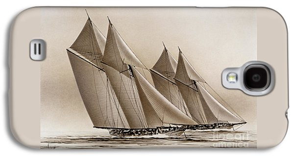 Tall Ships Galaxy S4 Cases - Racing Yachts Galaxy S4 Case by James Williamson
