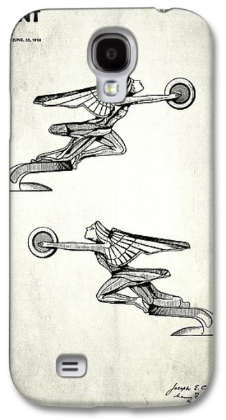Hood Ornament Photographs Galaxy S4 Cases - Radiator Cap Patent 1927 Galaxy S4 Case by Mark Rogan