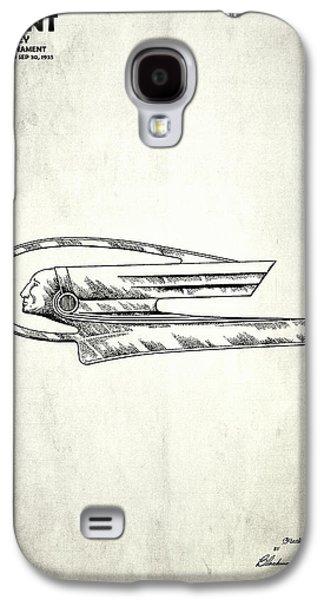 Hood Ornament Photographs Galaxy S4 Cases - Radiator Ornament Patent 1935 Galaxy S4 Case by Mark Rogan