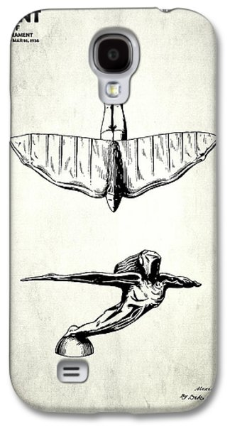 Hood Ornament Photographs Galaxy S4 Cases - Radiator Ornament Patent 1936 Galaxy S4 Case by Mark Rogan