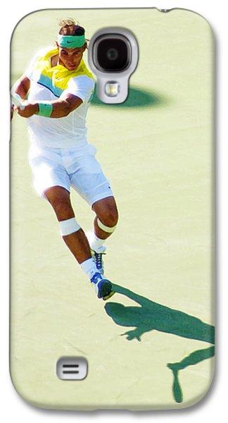 Rafael Nadal Shadow Play Galaxy S4 Case by Steven Sparks