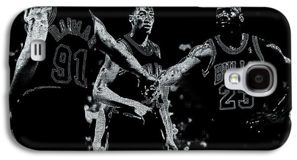 Patrick Ewing Galaxy S4 Cases - Raging Bulls Galaxy S4 Case by Brian Reaves