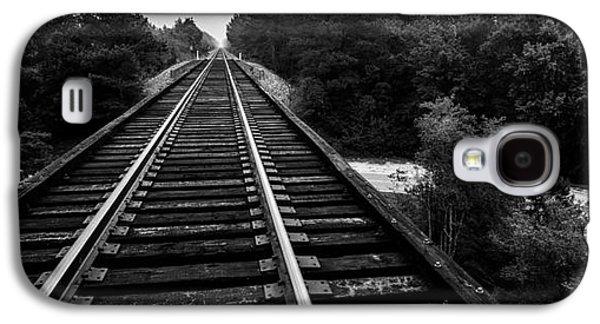 Transportation Tapestries - Textiles Galaxy S4 Cases - Rail Road Bridge Galaxy S4 Case by James Hennis
