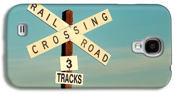 Railroad Crossing Galaxy S4 Case by Todd Klassy