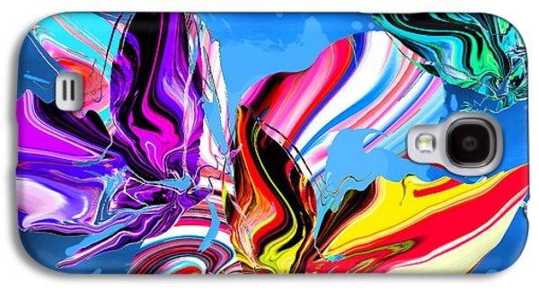 Rain Dancing Butterflies With Hummingbird Galaxy S4 Case by Abstract Angel Artist Stephen K
