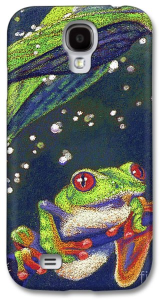 Storm Pastels Galaxy S4 Cases - Rain Drops - Tree Frog Galaxy S4 Case by Tracy L Teeter