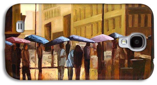 Rain In Manhattan Number Seventeen Galaxy S4 Case by Tate Hamilton