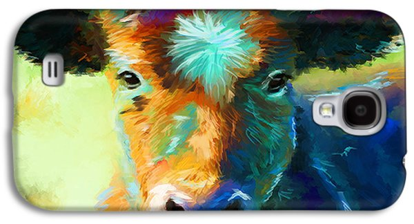 Recently Sold -  - Abstract Digital Paintings Galaxy S4 Cases - Rainbow Calf Galaxy S4 Case by Michelle Wrighton