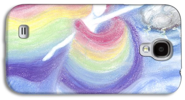 Recently Sold -  - Abstract Digital Pastels Galaxy S4 Cases - Rainbow Goddess Galaxy S4 Case by Cassandra Geernaert