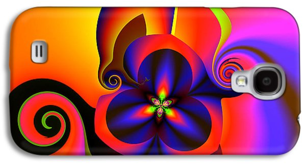 Abstract Digital Galaxy S4 Cases - Rainbow infusion Galaxy S4 Case by Claude McCoy