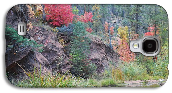 Oak Creek Photographs Galaxy S4 Cases - Rainbow of the Season with River Galaxy S4 Case by Heather Kirk