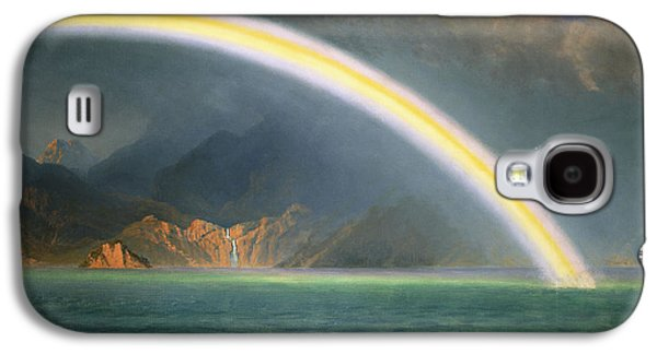 19th Century America Galaxy S4 Cases - Rainbow Over Jenny Lake Wyoming Galaxy S4 Case by Albert Bierstadt