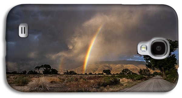 Cloudy Day Galaxy S4 Cases - Rainbow Road Galaxy S4 Case by Cat Connor
