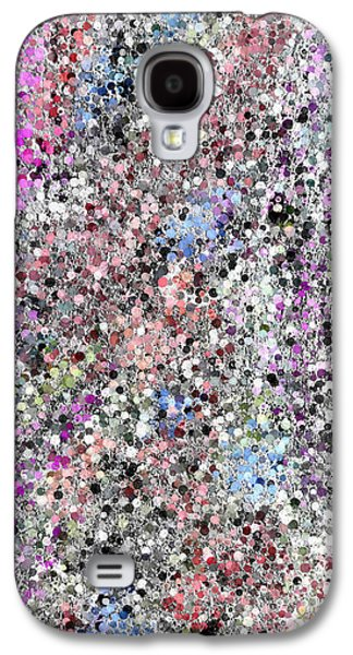 Digital Tapestries - Textiles Galaxy S4 Cases - Rainbow Road Galaxy S4 Case by Suzi Freeman