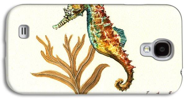 Rainbow Seahorse Galaxy S4 Case by Juan Bosco