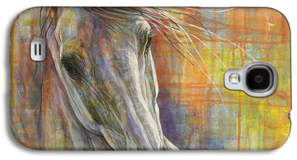 Equestrian Prints Galaxy S4 Cases - Rainbow  Galaxy S4 Case by Silvana Gabudean