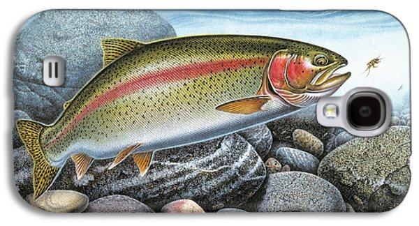 Rainbow Trout Galaxy S4 Cases - Rainbow Trout Stream Galaxy S4 Case by JQ Licensing