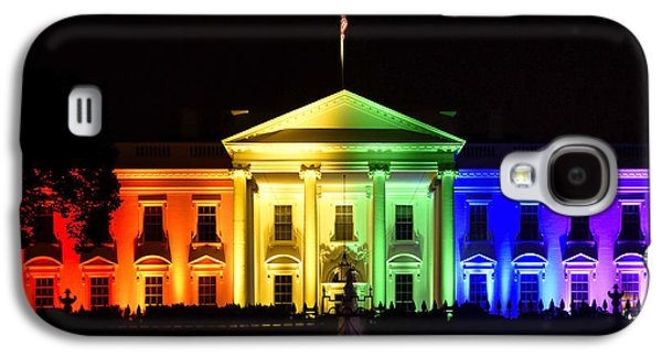 Rainbow White House  - Washington Dc Galaxy S4 Case by Brendan Reals