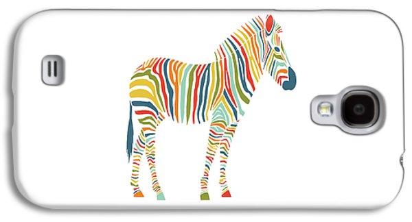 Rainbow Zebra Galaxy S4 Case by Nicole Wilson