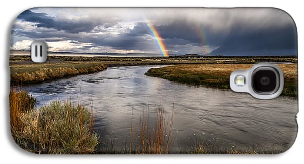 Cloudy Day Galaxy S4 Cases - Rainbows at the Upper Owens Galaxy S4 Case by Cat Connor