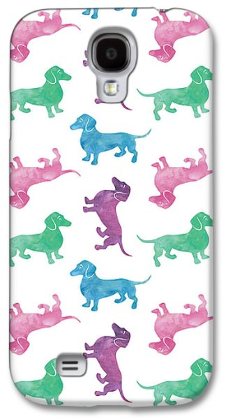 Raining Dachshunds Galaxy S4 Case by Antique Images